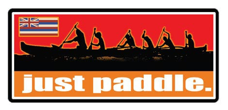 Just Paddle Decal