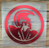 Red Chrome Hawaiian Warrior Seal Decal