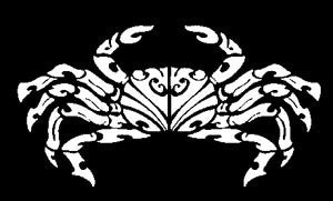 white aama crab decal