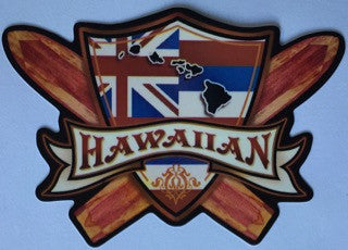 hawaiian flag crest with cross surfboards