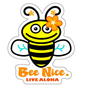 cartoon bee decal with bee nice