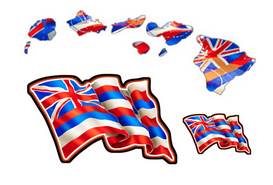 Island Flag Decal Set