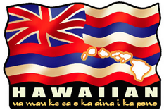 hawaiian flag with state motto