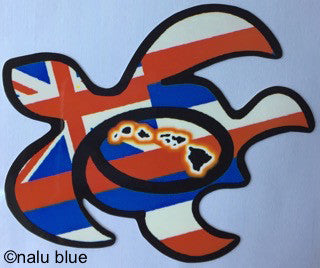 hawaiian flag honu