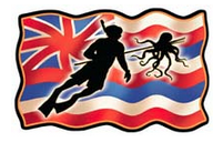 hawaiian flag spear diver tako