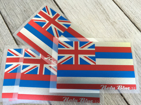 chrome hawaiian flag decal
