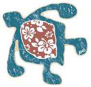 hawaiian petroglyph turtle with flowers