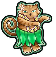 Hula Cat Decal