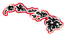 black and red hawaiian islands tribal decal