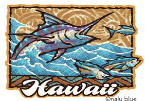 hawaii marlin decal