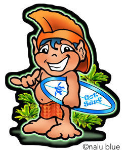 menehune surfer boy decal