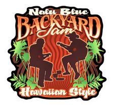backyard jam hawaiian style decal