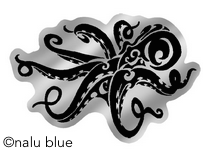 black and chrome tako decal