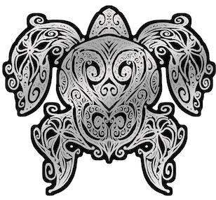 Honu Tribal Swirl Decal