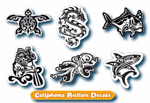black and white hawaiian tribal decals