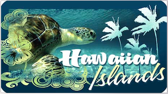 Honu Palms Decal