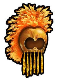 Hawaiian Warrior Helmet Decal
