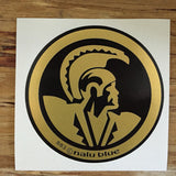 black and gold hawaiian warrior seal decal