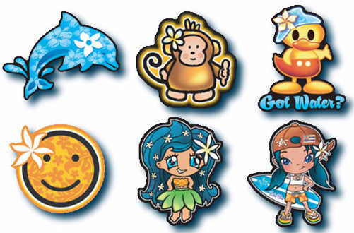Hawaiian Characters Decal Set