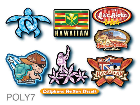 hawaiian decal set
