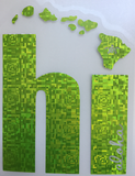 shiny green hi islands decal
