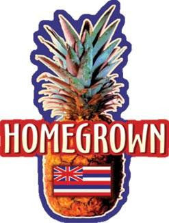 homegrown pineapple decal
