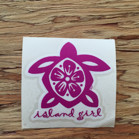 Island Girl Honu Decal