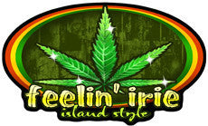 marijuana with feelin irie decal