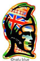 king kamehameha hawaiian flag decal