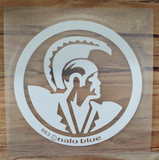 White Hawaiian Warrior Seal Decal