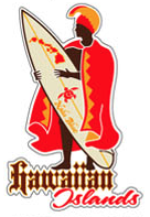 king kamehameha surfer decal