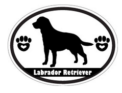 black and white labrador retriever decal