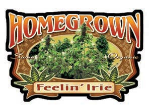 Homegrown Feelin' Irie Decal