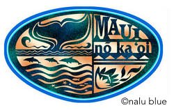 blue maui no ka oi decal