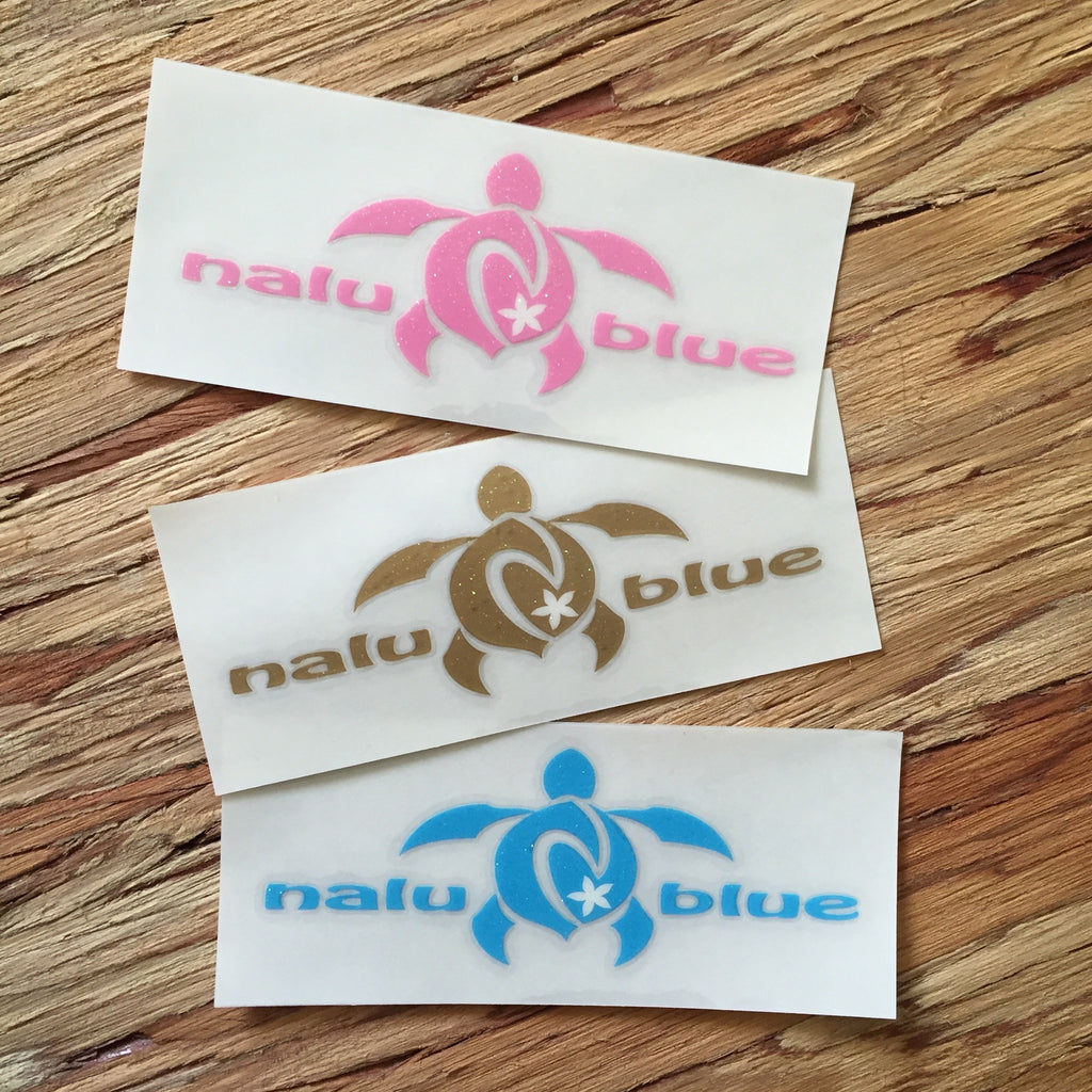 nalu blue glitter decals