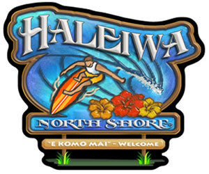 Haleiwa north shore sign decal