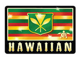 old hawaiian flag decal