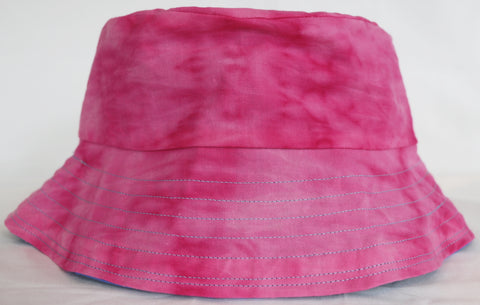 pink batik dyed bucket hat