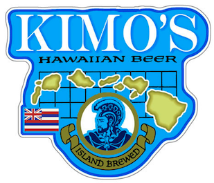 kimo hawaiian beer sticker