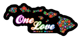 one love rainbow flowers hawaiian islands