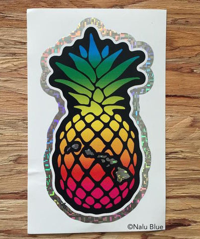 rainbow pineapple decal