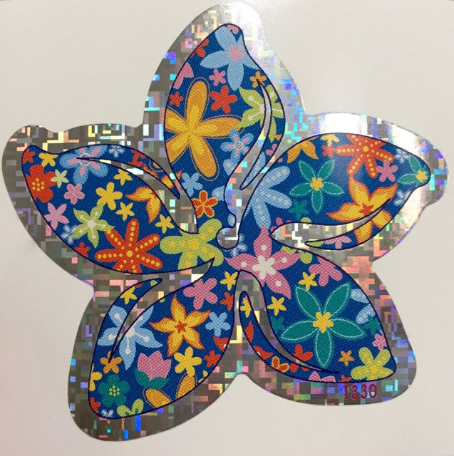 Rainbow Multi Plumeria Decal