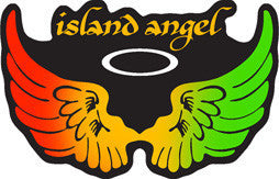 rasta island angel decal