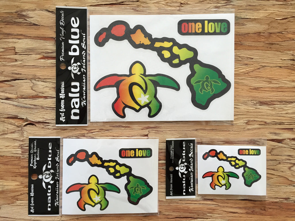 rasta hawaiian island decals