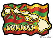 rasta hawaiian flag decal