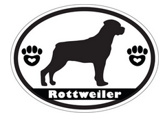 rottweiler black and white decal