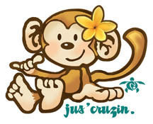 jus' cruzin monkey decal