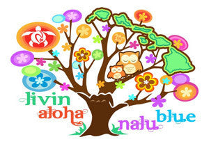 livin aloha tree decal