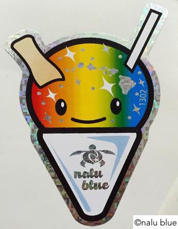 cute hawaiian shave ice decal