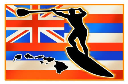 hawaiian flag stand up paddle